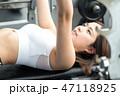 若い女性、スポーツジム、ダイエット、ジム、フィットネス 47118925