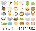 かわいい動物の顔 アイコンセット 47121368