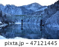 第二只見川橋梁を走る只見線 47121445