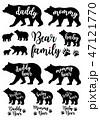Daddy bear, mommy bear, baby bear, vector set 47121770