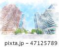 オフィス街 ビル群 ビジネス街のイラスト 47125789