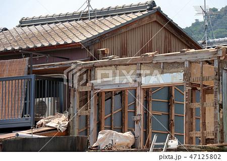 住宅の解体現場 47125802