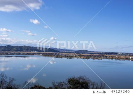 東郷湖_鳥取県湯梨浜町、出雲山展望台からの眺め 47127240