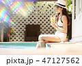 女性 リゾート 旅行 47127562