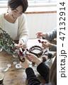 クリスマスリース 47132914