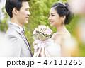 屋外 結婚式 結婚の写真 47133265