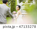 屋外 結婚式 結婚の写真 47133278