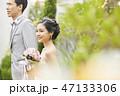 屋外 結婚式 結婚の写真 47133306