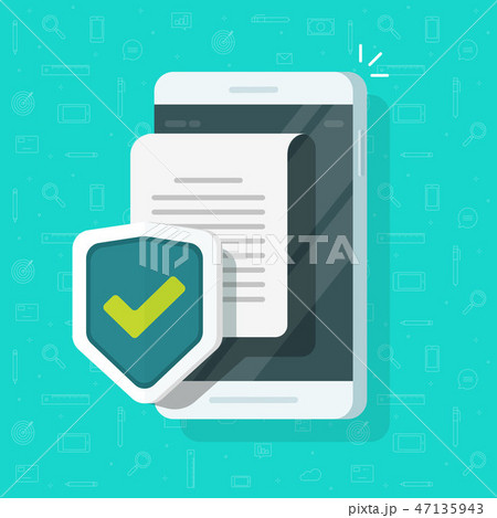 Phone document protection concept, mobile confidential information or privacy idea, cellphone 47135943