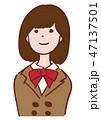 ブレザー 笑顔 中学生のイラスト 47137501