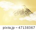 富士山 金色 背景のイラスト 47138367