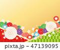 背景 桜 和柄のイラスト 47139095