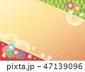 背景 桜 和柄のイラスト 47139096