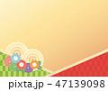 背景 花 和柄のイラスト 47139098