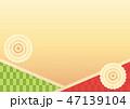 背景 和柄 模様のイラスト 47139104