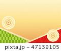 背景 和柄 模様のイラスト 47139105