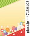 背景 桜 和柄のイラスト 47139108