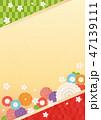 背景 桜 和柄のイラスト 47139111