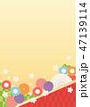 背景 桜 和柄のイラスト 47139114