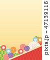 背景 花 和柄のイラスト 47139116