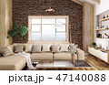 Interior of modern living room 3d rendering 47140088