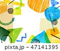 水彩 コラージュ テクスチャーのイラスト 47141395