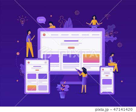 Development of responsive web design 47141420