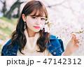 女性 ヘアスタイル 花の写真 47142312