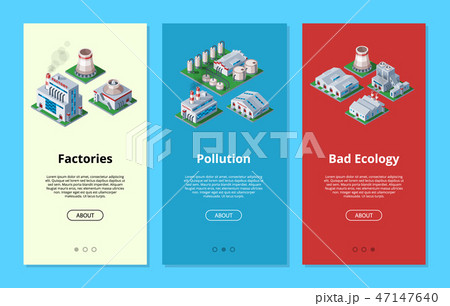 Factory vector industrial building and industry manufacture with engineering power illustration 47147640