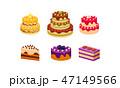 ケーキ ベクトル カラフルのイラスト 47149566