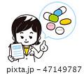 薬剤師 薬 処方薬のイラスト 47149787