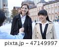 ビジネスウーマン 外国人と日本人 街頭インタビュー 47149997