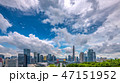 中国・深センの高層ビル群の風景 47151952