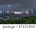 中国・深センの高層ビル群の風景 曇天 47151954