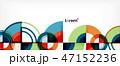 抽象的 丸 円のイラスト 47152236