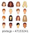 髪型 女 女の人のイラスト 47153241