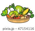 野菜 かご盛り 盛り合わせのイラスト 47154116