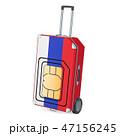 トラベル シム 旗のイラスト 47156245