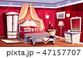 ベッドルーム 寝室 豪華のイラスト 47157707