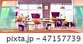 オフィス ワークスペース 仕事場のイラスト 47157739