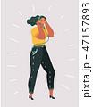 女 女の人 女性のイラスト 47157893