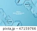 抽象的 背景 青のイラスト 47159766