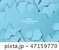 抽象的 背景 青のイラスト 47159770