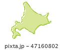 北海道 日本地図 ベクターのイラスト 47160802