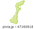 石川 日本地図 ベクターのイラスト 47160818