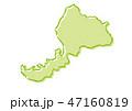 福井 日本地図 ベクターのイラスト 47160819
