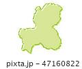 岐阜 日本地図 ベクターのイラスト 47160822