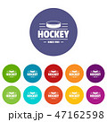 Hockey icons set vector color 47162598