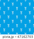 Medal pattern vector seamless blue 47162703