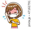 発熱 風邪 高熱のイラスト 47162791